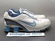 Women's Nike Shox Turbo+ IV 4 White Navy Silver Light Blue Running 2006 sz 6.5