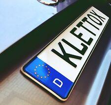 Kennzeichenhalter Klett KLETTOX Nummernschildhalter Rahmenlos x 2  selbstklebend