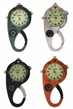 Carabiner Watch Ultra Bright Micro Led Mini Clip Watch – Compact Analog Display