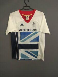 Great Britain Olympic Games Jersey Women 2012 MEDIUM Shirt Adidas W63331 ig93