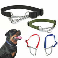 Dog Adjustable Half Semi Choke Choker Check Chain Training Newly Trainer Co C1N9