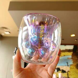 2020 Sakura Starbucks Purple Cat Paw Glass Cup Coffee Mug Christmas Gift friends