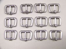 Leathercraft Buckles #50 Roller Buckle Stainless Steel 1 Inch Size  Qty of 12