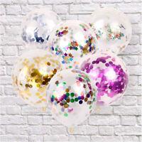 5pcs 12 inch Foil Confetti Latex Balloons Helium Wedding Birthday Party Decor