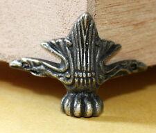 Standfüße Fuß 4 Stück Truhe Schatullen Schmuckkasten Bronze Retro Antik neu Z 04