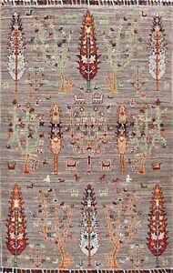 Vegetable Dye Tribal Super Kazak Oriental Area Rug Hand-knotted Foyer Carpet 3x5