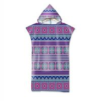 Ethnic BOHO Mandala Geometric Zigzags Hooded Surf Swim Beach Poncho Towel Robe