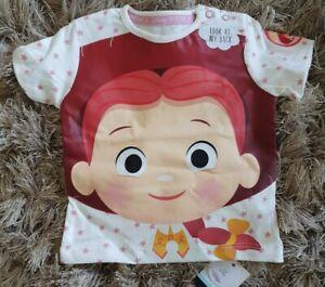 BNWT 0-3 Months Disney Short Sleeve T Shirt Toy Story Jessie