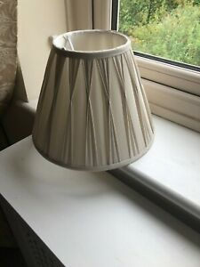 LOVELY CREAM SILK PLEATED SHADE 8.5INCHES X 12INCHES