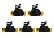 "5 LOT 1"" NPT Electric Plastic Solenoid Air Water Valve NC 110V AC pneumatic"