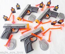 4X Toy Guns & Target Sets GREAT DEAL Dual 9MM Dart Pistol & Targets Set