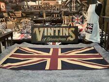More details for union jack large textile flag (152cm x 76cm tea dyed )