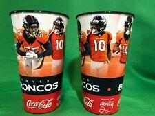 M213/90 NFL Denver Broncos Set of 2 Plastic Stadium Cups 2019 Players
