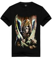 Grim Reaper with Knives T-Shirt ( rock horror gothic motorcycles biker top )