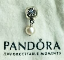 Pandora Flower Pearl Clasp Dangle Charm Preowned