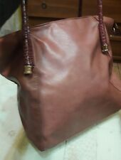 Borsa shopping shopper color rosa antico  rosata eco pelle grande maxi