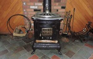 Cast iron wood burning heater/stove