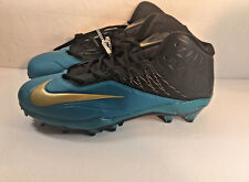 Nike Zoom Code Elite 3/4 TD Football Cleats 12.5 Blue Black 620499-015 AH Jags