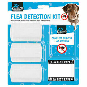 COMPLETE FLEA DETECTION KIT OR FLEA COMB SET GROOMING DOG PUPPY CAT ANIMAL PETS