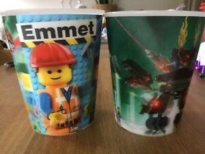 2 x 2014 McDONALD'S LEGO MOVIE 3D 3-D CUPS