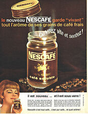 PUBLICITE ADVERTISING 015  1962  NESCAFE   café soluble sous verre