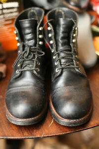 "Red Wing 8114 Heritage 6"" Iron Ranger Boots 9.5D BLACK"