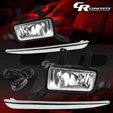 CLEAR LENS SILVER COVER FOG LIGHTS+SWITCH LH+RH FOR 05-20 CHEVY TAHOE/SUBURBAN