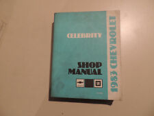 Chevrolet Celebrity 1983 Shop Workshop Service manual Werkstatthandbuch