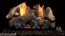 "Monessen Berkley Oak Vent Free 18"" Ceramic Natural Gas Log Set Remote Ready New"
