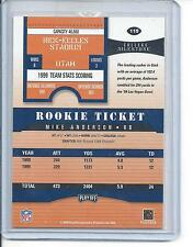 2000 MIKE ANDERSON PLAYOFF CONTENDER RC TICKET  RARE