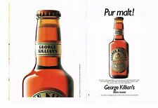 PUBLICITE ADVERTISING  1991  GEORGE KILLIAN'S  bière  rousse   (2 pages)