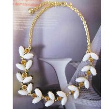 NEW Anthropologie White Reamer Weave Copper Rhinestone Necklace BID