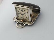 1935 jubilee Birmingham Art deco sapho Silver leather purse watch