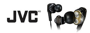 JVC Victor High-End Dual Dynamic In-ear Stereo Headphones HA-FXT90 Black