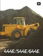 Equipment Brochure - John Deere - 444E 544E 644E - Wheel Loader - c1988 (E3746)