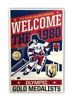 Jim Craig Signed Miracle On Ice 40Th Anniversary Poster Vegas Knights JSA COA