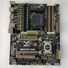 100% working ASUS SABERTOOTH 990FX Motherboard AMD Socket AM3+ DDR3 ATX+Plate
