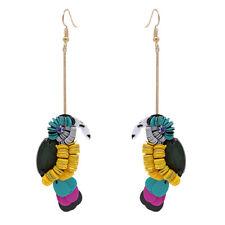 Fashion Women Handmade Gold Plated Woodpecker Long Dangle Drop Earrings Jewelry