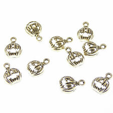 Wholesale 10 x Pumpkin halloween quirky metal charms 1.5cm fun pendants