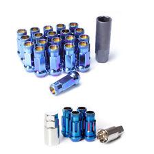 Muteki SR48 Open End Lug Nuts with Locks in Burning Blue 12x1.50 32906 32902UN