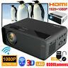 LED Projector 8000Lumens BT 3D HD 1080P Home Theater Cinema HDMI/USB/VGA/AV
