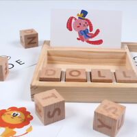 Wooden English Spelling Alphabet Letter Game Early Learning Education Toy Kids X