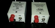 CON OHMIC JR393-A THERMOCOUPLE REFERENCE JUNCTION SERIAL C-2413 LOT OF 2 $65