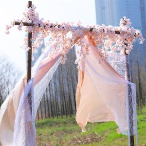 1.8M Artificial Cherry Blossom Fake Flower Hanging Wedding Decor Garland Plant