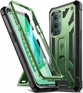 OnePlus 9 Pro 5G Cell Phone Case Poetic® Armor Kickstand Shockproof Cover Green