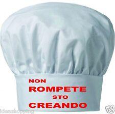 Cappello UOMO DONNA cuoco chef pasticcere bianco scritta NON ROMPETE STO  CREANDO 291451388a49