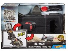 Hot Wheels DC Justice League Batman Transforming Flying Fox Vehicle w/Discs New