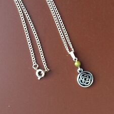Connemara marble Celtic knot silver pewter pendant. Irish jewelry gift craft box