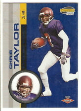 2001 INVINCIBLE ROOKIE 286 SERIAL #21/99 CHRIS TAYLOR STEELERS TEXAS AGGIES
