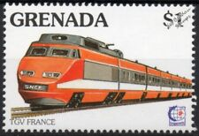 SNCF train à grande vitesse (TGV) TGV Paris Sud-Est train Stamp #5